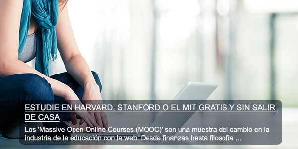 Estudie en Harvard, Stanford o el MIT gratis y sin salir de casa